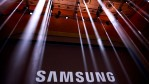 The Samsung logo is displayed on a screen prior to the start of a launch event for the Samsung Galaxy Note 7 at the Hammerstein Ballroom, August 2, 2016 in New York City. The stylus equipped smartphon