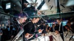 Visitors check HTC mobile phones on the second day of the event at the Fira Gran Via Complex on day 2 of the Mobile World Congress on February 23, 2016 in Barcelona, Spain.