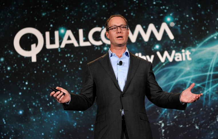 Qualcomm President Derek Aberle speaks at a press event at the Mandalay Bay Convention Center for the 2015 International CES on January 5, 2015 in Las Vegas, Nevada.