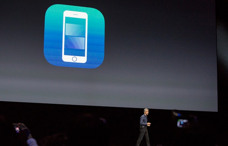 Craig Federighi, Apple's senior vice president of Software Engineering, introduces the new iOS software at an Apple event at the Worldwide Developer's Conference on June 13, 2016 in San Francisco, Ca.