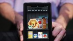 The new Amazon tablet called the Kindle Fire is displayed on September 28, 2011 in New York City.